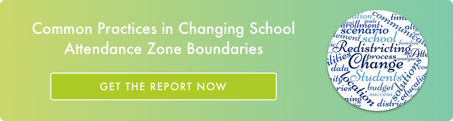 Get the report on changing attendance zone boundaries