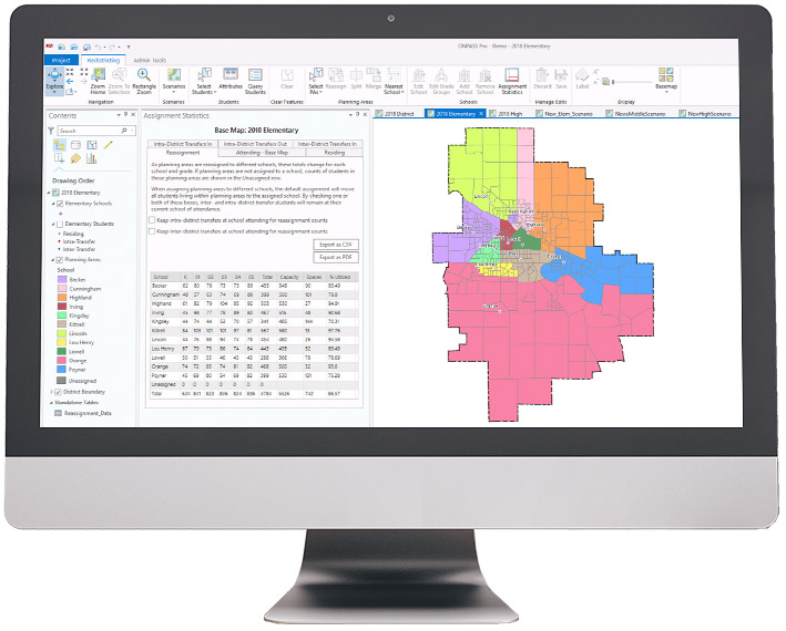 ONPASS Pro: Easy to use GIS-based tools and reports built specifically for school district planning