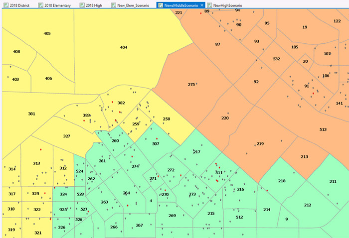 GIS-based tools and reports built specifically for school district planning